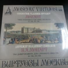 DISC VINIL   VLADIMIR SPIVAKOV MOZART - THREE DIVERTIMENTI FOR STRING ORCHESTRA