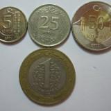 Turcia (e3): 5, 25 Kurus 2011, 50 Kurus 2017, 1 Lira 2009, Asia