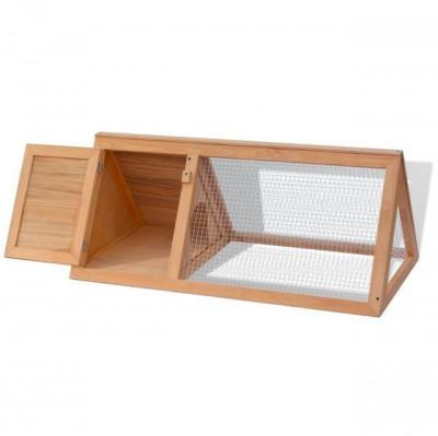 Cușcă din lemn pentru iepuri și alte animale foto