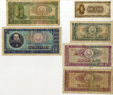 Lot 63 Bancnote Romania 1 3 5 10 25 100 lei 1966 1941 1942 1943 1944 Rusia etc