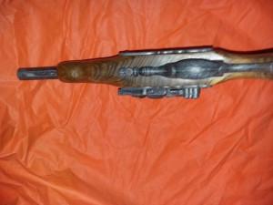 Pistol de epoca masiv,metal si lemn,pistol de panoplie vechi,Transport GRATUIT