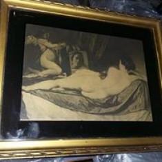 Tablou vechi cu rama,Velázquez: Venus în oglindă,foto/grafica/litografie,T.GRATU