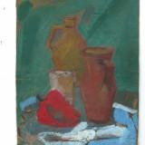 """Pictura """"Studiu"""" de Dimitrie Tony Stanciu, Natura statica, Guasa, Realism"""