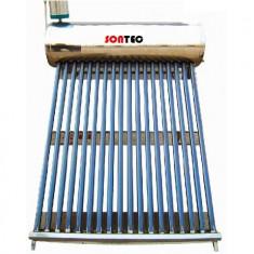 Kit Panou solar apa calda Sontec 120 litri/12 tuburi nepresurizat, INOX - cu vas flotor