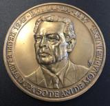 Romania - Medalie Regele Mihai 50 de ani monarh in exil 1947-1997 - Bronz 109 gr