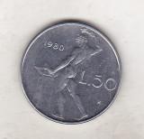 Bnk mnd Italia 50 lire 1980, Europa