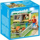 Tarc de iepuri cu cusca Playmobil