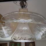 MURANO - superb candelabru masiv de sticla murano - UNICAT !!!!