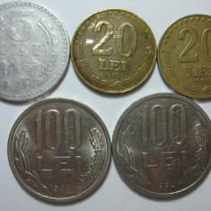 Romania (8): 5 Lei 1978, 20 Lei 1992, 1993, 100 Lei 1993, 1994