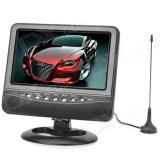 Televizor camping 19 cm diagonală tv 12v portabil tv auto  AV usb radio fm