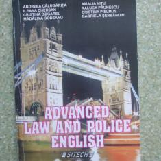 A. CALUGARITA : ADVANCED LAW AND POLICE ENGLISH, Clasa 12, Limbi straine