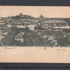 BUCURESTI  VEDERE GENERALA  PANORAMA I. CLASICA   CIRCULATA 1899, Printata