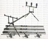 Kit Crap  3 lans 3,6m Fino Carp, 3 mulin KDL50 LONG CAST  9 rulm si rod pod full
