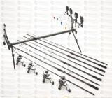 KIT 4 lans crap Avenger 3,6m , 4 mulinKDL50 Long Cast 9 rulm, rodpod 4 post full