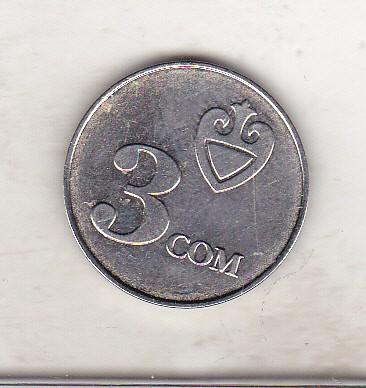 bnk mnd Kyrgyzstan 3 som 2008 unc
