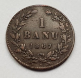 Romania 1 banu 1867 Heaton