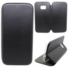 Husa Protectie Toc Flip Cover 360 Grade Samsung Galaxy S7 Edge, Negru