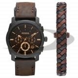 Set barbatesc ceas + bratara Fossil FS5251