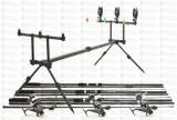 Kit Crap 3 lans3,9m Fino Carp, 3 mulin KDL50 LONG CAST, 9 rulm si rod pod full