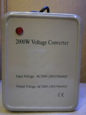Convertor invertor transformator de tensiune 220V - 110V putere 2000W pt SUA NOU foto