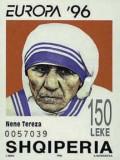 Albania 1996 - Europa, Maica Tereza, colita neuzata