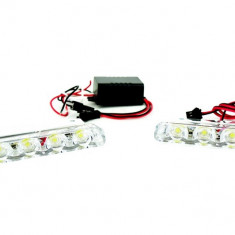 Stroboscoape LED Mini lumina Portocalie (amber) 1529 12V