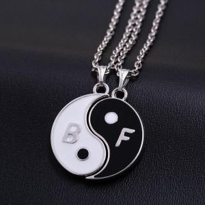 Pandantiv / Colier / Lantisor - BFF Best Friend Friends Ying Yang