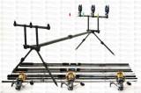 Kit Crap  3 lansete 3,6m Fino Carp,3 mulinete KT5000A cu 9 rulm si rod pod full