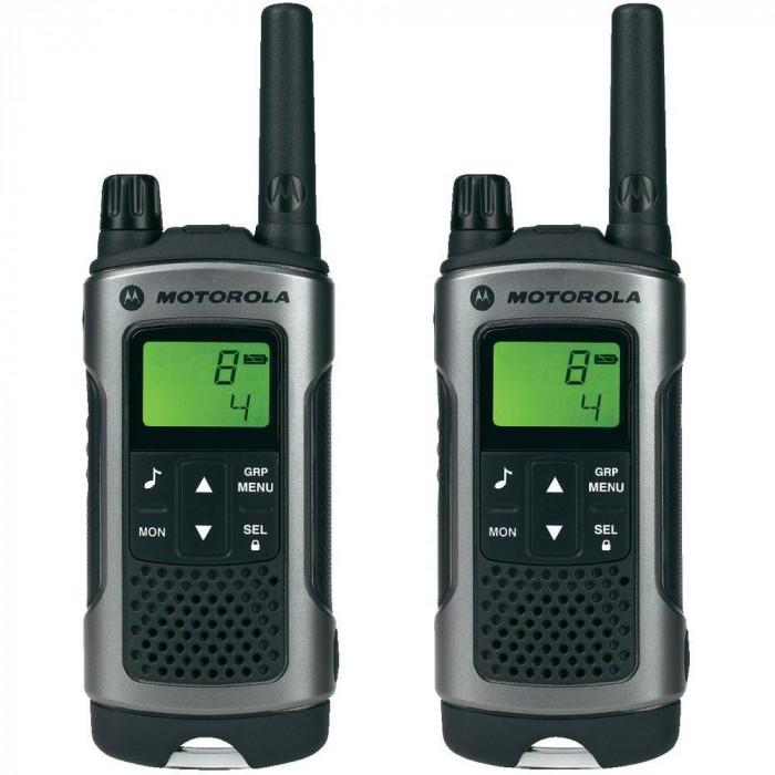 Resigilat : Statie radio PMR portabila Motorola TLKR T80 set cu 2 buc Gri