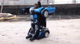 ROBOT TRANSFORMERS SENZATIONAL MASINA BUGATTY VEYRON,TELECOMANDA,ACUMULATOR! NOU, Plastic, Unisex