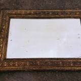 Rama veche cu oglinda - prezinta patina originala a timpului, 1900 - 1949