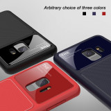 Husa Antisoc de LUX cu sticla securizata pt Samsung Galaxy S9 Plus, Alt model telefon Samsung, Albastru, Gel TPU