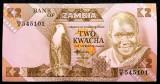 ZAMBIA 2 KWACHA 1980 - 1988 UNC necirculata  **
