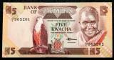 ZAMBIA 5 KWACHA 1980 - 1988 UNC necirculata  **