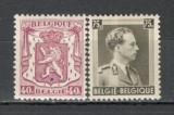 Belgia.1938 Stema de Stat si regele Leopold III  MB.47, Nestampilat