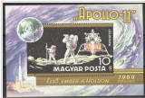 Ungaria, cosmos, Apollo 11 colita, 1969, MNH, Nestampilat