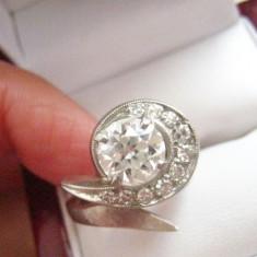 ***Inel   AUR 14K  diamante si moissanite, 46 - 56