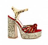 Pantofi cu toc/Botine/Platforme - Windsor Smith - Roxie , GOLD,  37