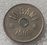 G5. Romania 10 bani 1906 j XF / aUNC **