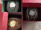 Cumpara ieftin NOU Ceas de dama elegant fashion auriu curea metalica tip lant GENEVA