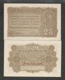 ROMANIA   BGR   25 BANI  1917  [1]  P-M1b ( serie 8 cifre )   UNC