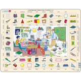 Puzzle Invatam Limba Engleza Nr6, 70 Piese, LARSEN