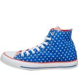Tenisi Converse CT All Star Hi Polka Dot Trainers marimea 36 si 36.5, Albastru, Textil