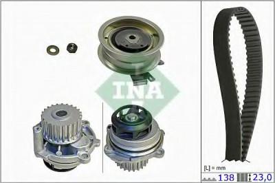 Set pompa apa + curea dintata VW BORA Combi (1J6) (1999 - 2005) INA 530 0171 31 foto