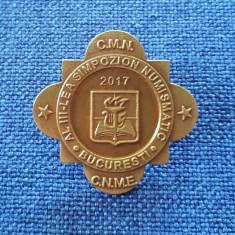 Insigna Cercul national M. Eminescu - Simpozion numismatic