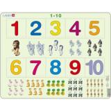 Puzzle Cifre 1-10, 10 Piese, LARSEN