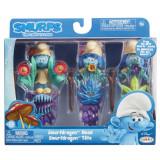 Strumfii - Set 3 figurine cu masca si toiag Smurfdragon Head
