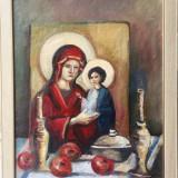 """Tablou, Otto Briese, """" Natura statica cu icoana """", Religie, Ulei, Altul"""