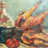 """Tablou, Otto Briese, """" Masa traditionala cu ulcica """", Natura statica, Ulei, Altul"""