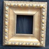 Rama din lemn masiv, exterior 38x36 cm, interior 17x15,5 cm, Oglinda, Art Modern, Dupa 1950